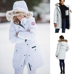 женские белые лыжные куртки Скидка Канада открытый спорт качество мода женщин спорта на открытом воздухе с капюшоном куртка водонепроницаемый ветрозащитный лыжный альпинизм одежда Бесплатная доставка