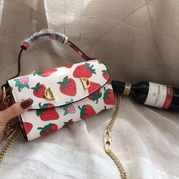 Bolsas de morango on-line-Rosa sugao designer de bolsas das mulheres sacolas de luxo 2019 nova moda sacos de ombro de couro genuíno impressão morango novo estilo gubrand bolsa