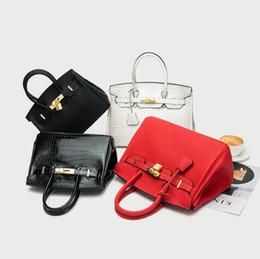 bolsas de crocodilo vermelho Desconto Bag 2020 Luxo H Mulheres Handbag Lichia Crocodile Pattern ombro vermelho, preto, branco Kelly Feminino Saco Herm004