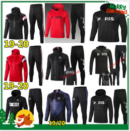 Hoodies de champions en Ligne-Sweat à capuche PSG Paris 2019 2020 Psg jordan survêtement de football 18 19 20 champion MBAPPE Hoodie survetement psg