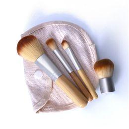 escova de maquiagem dupla final Desconto Base de bambu Escova de Maquiagem Escovas Cosméticos Rosto Pó Escova Para Maquiagem Ferramenta de Beleza Para Frete Grátis
