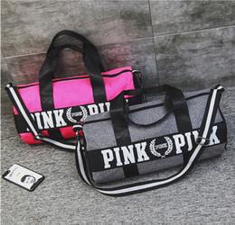 2019 bolsa feminina rosa feminina Saco de Duffel Grande Grande Armazenamento Das Mulheres Dos Homens Saco de Viagem Hangbag Ginásio À Prova D 'Água Rosa saco de Bagagem Sacos de Transporte Rápido Hot New bolsa feminina rosa feminina barato