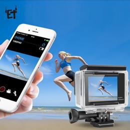 2019 casos dvr ET H9 HD 4K Cámara 1080P Cámara Wifi con 30m Funda impermeable Portátil Deporte DV DVR 2.0 'Videocámara con video de acción en pantalla casos dvr baratos