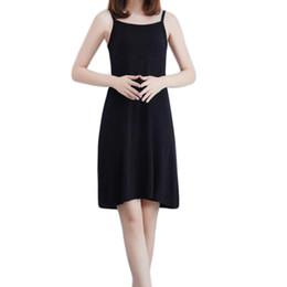 YJSFG EVI Sıcak Satış Bayanlar Fişleri Modal Kadın Artı Tam Fişler Kaşkorse Elbise Underdress Petticoat Intimates Beyaz nereden toptan uzun uyku gömlekleri tedarikçiler