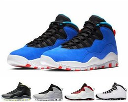2019 mens huarache chaussures 10 10s New Tinker Huarache Chaussure de basket-ball Light Cement Westbrook Je suis de retour Blanc Noir Cool Gris Steel Grey Mens Chaud baskets de sport 41-47 mens huarache chaussures pas cher