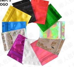 Mini sacos ziplock on-line-6x9cm (2.25x3.5in) 7 cores Glossy selo de calor da folha de alumínio Mylar Mini Ziplock sacos lisos Bloqueio Saco Para Herb Jewel Packing