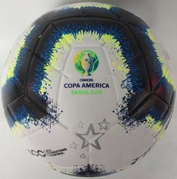 бесплатные футбольные мячи Скидка 2019 Copa America футбольный мяч Final KYIV PU размер 5 шариков гранулы скольжению футбол Бесплатная доставка мяч высокого качества