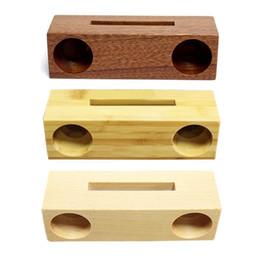 Canada Support en bois de support de téléphone portable de support mobile en bois de bambou innovateur avec amplificateur de son J190507 cheap bamboo cell phone holder Offre