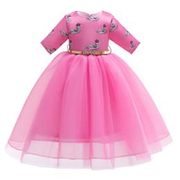 vestidos de cisne Desconto Varejo crianças meninas vestido de grife muçulmano cisne impresso malha princesa vestido de festa de casamento das crianças formal vestidos de baile boutique roupas