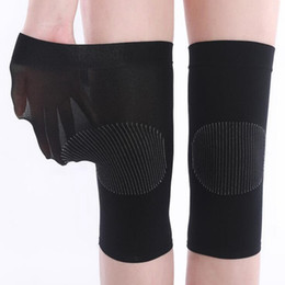 Gambaletti da ginnastica sportiva online-Women Breathable Knee Protector Thin Motion Knitting Knee Pads Joint Leg Sheath Warm Riding Summer Running Volleyball Sports Goods 2 3zx A1