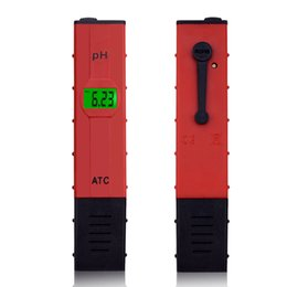Ph mètres de type stylo en Ligne-50 pcsDigital PH mètre 0-14 Pen-type piscine Aquarium ph testeur analyseur de pureté de l'eau de sol sol papier ph mètre 0.01 précision