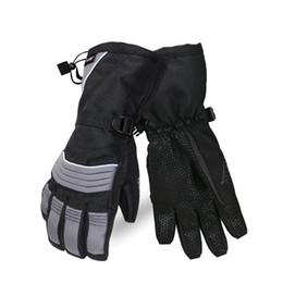 Водонепроницаемые ветрозащитные лыжные перчатки Зимних Бархатные проложенные Теплые перчатки для мужчин женщины термальной Ский Зимнем руны Водонепроницаемой от Поставщики кожаное освещение