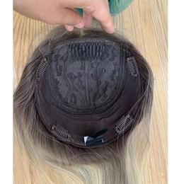 2019 mongolian fechamento de seda de cabelo encaracolado profundo Topper europeu da parte superior de seda do cabelo humano do Virgin de Le Beauty Hair