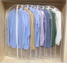 Sacs de rangement pour manteaux en Ligne-Vêtements Clear Dust Covers Home Storage Protect Cover Sac De Voyage Pour Vêtement Costume Robe Vêtements Affichage Coat