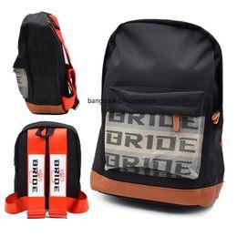 Yeni Stil Siyah / Mavi / Kırmızı JDM Tarzı Gelin Yarış Kumaş Kayış Tarzı Okul Sırt Çantası Araba Tuval Sırt Çantası Gelin Çantası Yarış Hediyelik Eşya nereden