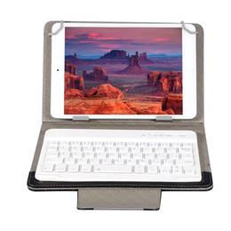 универсальный чехол для bluetooth Скидка Universal 7 8 inch 9 10 inch Bluetooth Keyboard PU Leather Case Stand Cover +OTG+pen For Pad Tablet for IOS Android Windows
