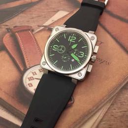 2019 зеленый дайвер смотреть Новые часы авиационный хронограф кварцевые наследия черный циферблат зеленый номер R0194 мужские часы дайвер резиновый ремешок стальной корпус спортивные наручные часы скидка зеленый дайвер смотреть