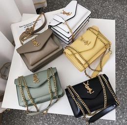 bolsa amarilla de la cámara Rebajas La marca más caliente de 2019 recomendó a las damas de alta gama diseñador de bolsos de cadena de color sólido solo bolso de hombro moda damas bolsa de viajero envío gratis