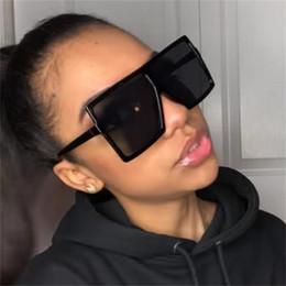super lunettes de soleil Promotion Lunettes de soleil oversize plates noires pour femmes super tendance