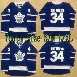 2019 kinder jersey größen Jugend Kinder 34 Auston Matthews Jersey Toronto Maple Leafs Auston Matthews 100% Genähte 2016 Eishockey Trikots Günstige Größe S / M L / XL günstig kinder jersey größen