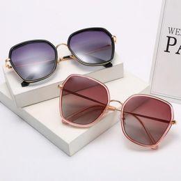 индивидуальные солнцезащитные очки Скидка 2019 luxury sun glasses high-end polarized sunglasses customized web celebrity fashionable metal glasses polygonal lady sunglasses