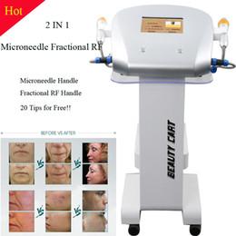 agujas rf Rebajas Nuevo Diseño 4 consejos Fraccional máquina de microagujas aguja fraccional RF Micro piel fraccional RF Máquina de Belleza