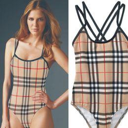 Bikini sveglio di modo online-Bikini a fascia da donna di moda estiva in tessuto plaid classico di Vogue da donna
