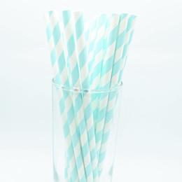 Cannucce di carta di disegno dell'onda a strisce blu 25pc per la festa nuziale di compleanno Festa di compleanno Baby Shower partito stoviglie monouso forniture supplier blue striped straws da cannucce a righe blu fornitori