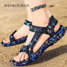 Summer Men Sandals Gladiator Beach Shoes Male Camouflage Slippers Sport Water Flip Flops Sandalia Masculina Zapatos De Hombre Y200107