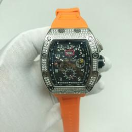 2 types de diamants R-M montre en argent d'excellente qualité supérieure montres pour hommes montres automatique mouvement à balayage automatique bracelet en caoutchouc glacé ? partir de fabricateur