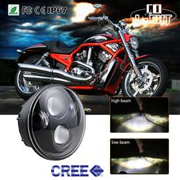 """Feixes de projetor on-line-5 3/4 """"Led Farol 5.75"""" Daymaker Projetor LEVOU Farol 40 W Alto Baixo Feixe para Motos Harley 48 Sportster / Dyna"""