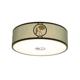Canada Chine Vert rond plafonnier LED Dia 45cm 55cm Plafonnier en tissu pour restaurant chambre à coucher Suspension Home Lighting G469 Offre