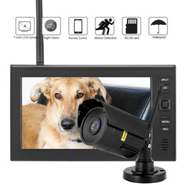 fotocamera ip diy outdoor Sconti Display LCD da 7 pollici Wireless WIFI 4CH Security Monitor + Telecamere IR + Scheda TF