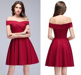 8042b90df vestidos cortos de nuevo diseño Rebajas Nuevo diseño fuera del hombro  Vestidos de fiesta rojos Barato