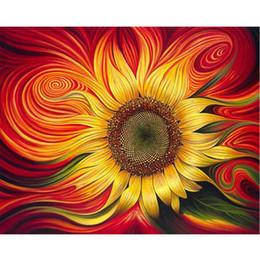 numéro de peinture kit bricolage Promotion Peinture à l'huile de bricolage par nombre de fleurs Thème 50 * 40CM / 20 * 16 pouces sur la toile pour la maison kits de décoration [sans cadre]