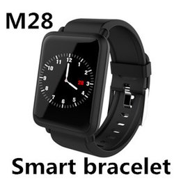 motor pack Coupons - M28 Smart Bracelet 1.3 inch IPS color screen heart rate vibration motor call rejection multiple sports mode remote control music 50 Packs