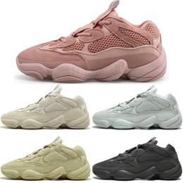 bbd184738 Hot Kanye West 500 Desert Rat Blush 500s Salt Super Moon Yellow 3M Utility  Black mens running shoes for men women sports sneakers designer