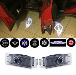 Luzes de Boas-Vindas Da Porta do carro Logotipo Do Projetor Para BMW Mini Cooper R55 R57 R58 R59 R60 S Countryman S JCW F54 F55 F56 F57 de