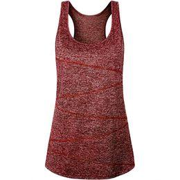 Camisa de las mujeres sin mangas de yoga Tops Ropa deportiva Correr Entrenamiento Camisa túnica Chaleco Tanque absorbente de sudor ropa transpirable desde fabricantes