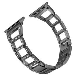 Deutschland Wonen Mädchen Armband für Apple Watch Band 38/42/40 / 44mm Luxus Typ Diamant Uhrenarmband verstellbare WristBand Serie cheap types watch bracelets Versorgung