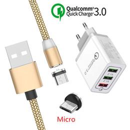 cabo lg g3 Desconto Cabo micro USB magnético para Samsung Galaxy J7 J5 J3 J4 Huawei Y5 Y6 LG G3 Stylo 3 Oppo A7 telefone android QC 3.0 Carregador rápido USB