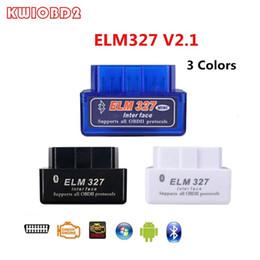 obd2 puede bus código escáner Rebajas ELM327 V2.1 Bluetooth OBD2 Code Reader CAN-BUS es compatible con automóviles multimarca Multi-Idioma ELM327 BT V2.1 Funciona con escáner de diagnóstico para Android / PC