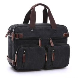 Esconder el bolso online-Lienzo Bolsos de viaje para hombres Bolsos de mano para equipaje Bolsa de viaje T733 Bolso de viaje Tote Hide The Shoulder Strap Bolsos Bolsos de cuero para hombres