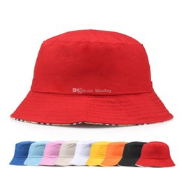 3c8517ba Travel Fisherman Leisure Bucket Hats Solid Color Fashion Men Women Flat Top Wide  Brim Summer Cap For Outdoor Sports Visor C6520