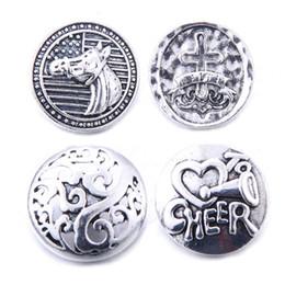 10pcs / lot New Snaps Jóias Misto de prata antigo do metal 18mm botões de pressão para botão snap encantos pulseiras colares Gengibre de
