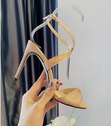 вечерняя обувь размер 34 Скидка Женские сандалии на высоком каблуке 10 см Модные элегантные летние сандалии с ремешком на лодыжке 2019 Летние вечерние платья для вечеринок 34-41 Размер
