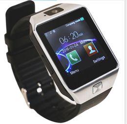 Смотреть сотовый телефон tf-карту онлайн-DZ09 Smart Watch Bluetooth SmartWatch для Android Samsung Поддержка сотового телефона SIM TF карта наручные часы с камерой анти-потерянный