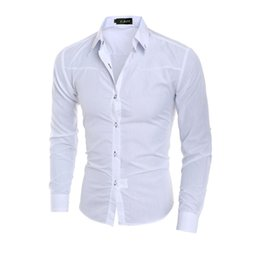 9ad9ea1ce10 Luxury Men s Stylish 5 Colors Dress Shirt Slim Fit Shirts Formal Long Sleeve  HOT Plus Size 3XL