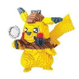 Detective Pikachu pequenos blocos partículas de construção brinquedos monstro de bolso Bricks ação figuras blocos brinquedo para o presente de aniversário das crianças B11 de Fornecedores de teste de pc