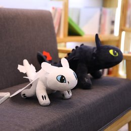 stuffed dragons Coupons - How to Train Your Dragon Plush Toys Toothless Light Fury Stuffed Animals Christmas Gifts Movie Anime Plush Doll Toys For Children KidsHow